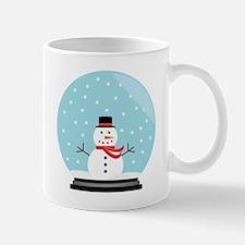 Snowman in a Snow Globe Mug