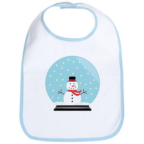 Snowman in a Snow Globe Bib