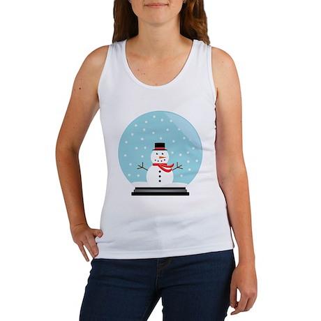Snowman in a Snow Globe Women's Tank Top