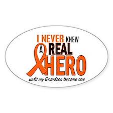 Never Knew A Hero 2 ORANGE (Grandson) Decal