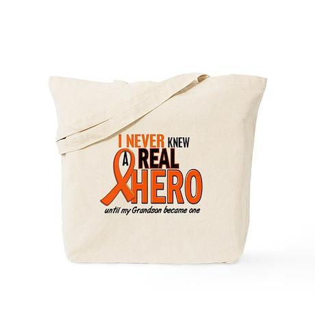 Never Knew A Hero 2 ORANGE (Grandson) Tote Bag