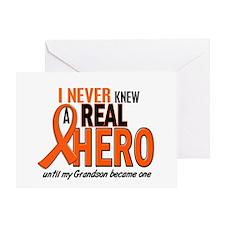 Never Knew A Hero 2 ORANGE (Grandson) Greeting Car