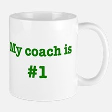 My coach is #1-green Small Small Mug