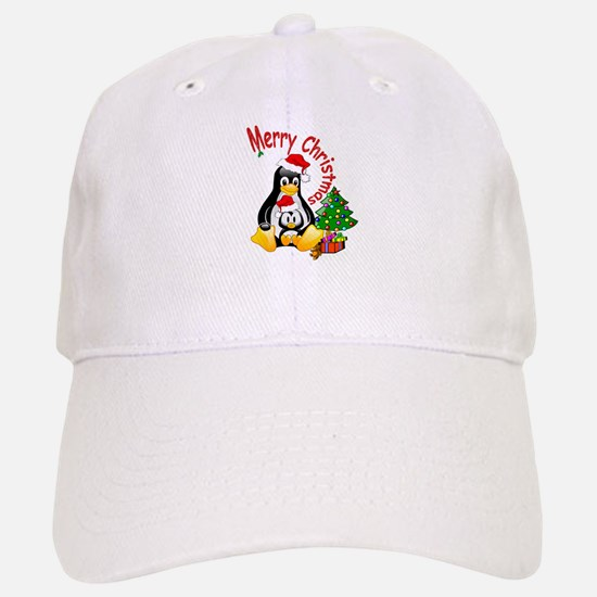 Merry Christmas Penguins Cap