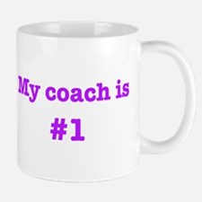 My coach is #1-pink Small Small Mug
