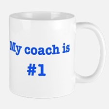 My coach is #1-blue Small Small Mug