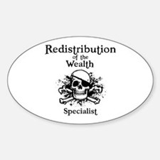Redistribution Specialist Oval Decal