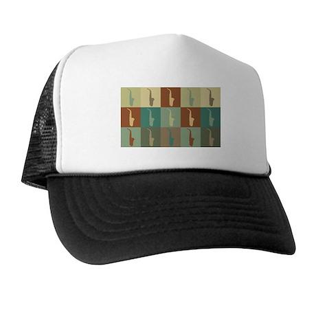 Saxophone Pop Art Trucker Hat