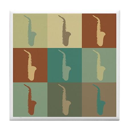 Saxophone Pop Art Tile Coaster