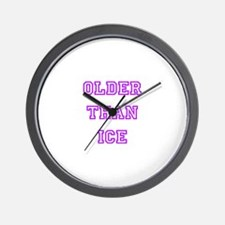 older than ice-pink Wall Clock