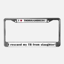 Rescued TB License Plate Frame