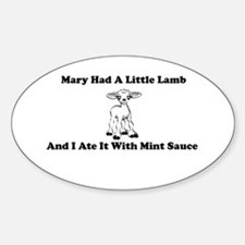 Mary's Mutton Oval Decal