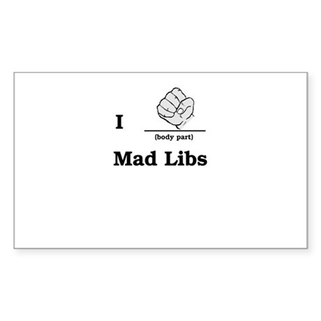 Mad Libs Rock Rectangle Sticker