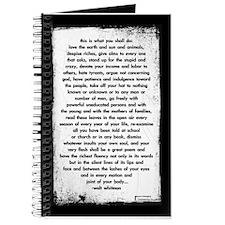 'walt whitman' journal
