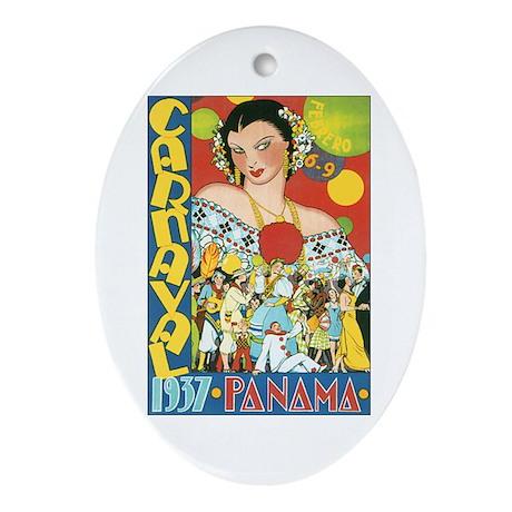 Panama Oval Ornament