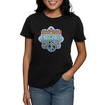 Earth Peace Menorah Women's Dark T-Shirt