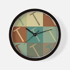 Roofs Pop Art Wall Clock