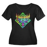 V Menorah Women's Plus Size Scoop Neck Dark T-Shir