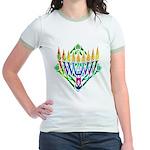 V Menorah Jr. Ringer T-Shirt