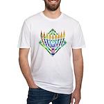 V Menorah Fitted T-Shirt
