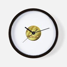 skating 102-gold Wall Clock