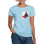 Red Admiral Butterfly Women's Pink T-Shirt