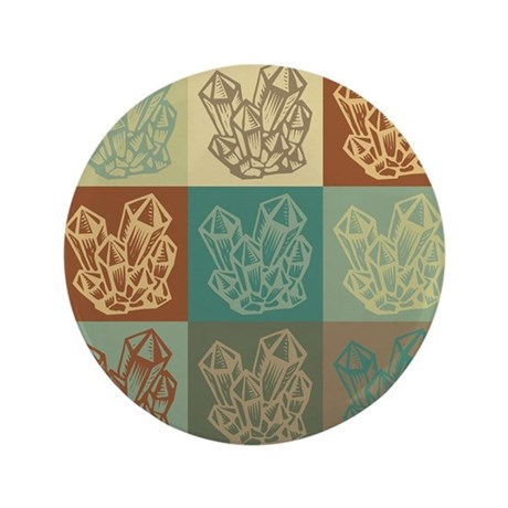 "Rockhounding Pop Art 3.5"" Button (100 pack)"