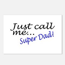 Just Call Me Super Dad Postcards (Package of 8)