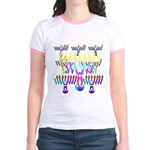 8 Nights Menorah Jr. Ringer T-Shirt