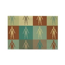 Respiratory Therapy Pop Art Rectangle Magnet