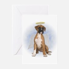 Angel Boxer Puppy Greeting Cards (Pk of 20)