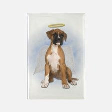 Angel Boxer Puppy Rectangle Magnet