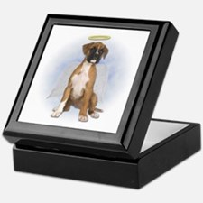 Angel Boxer Puppy Keepsake Box