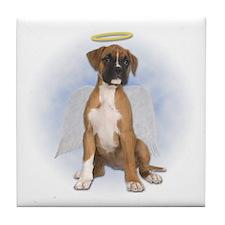 Angel Boxer Puppy Tile Coaster