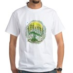 Green Menorah Tree White T-Shirt