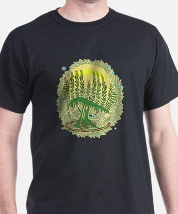 Green Menorah Tree T-Shirt