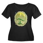 Green Menorah Tree Women's Plus Size Scoop Neck Da