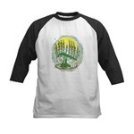 Green Menorah Tree Kids Baseball Jersey