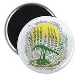 Green Menorah Tree Magnet