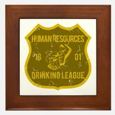 Human Resources Drinking League Framed Tile
