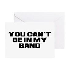 You Can't Band Greeting Card