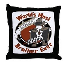 Outrageous Brother Throw Pillow