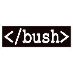 html tag anti-bush bumper sticker
