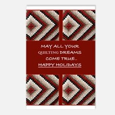 Quilting Christmas Postcards (Package of 8)