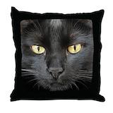 Black cat Throw Pillows