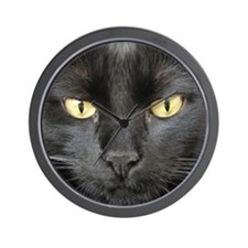 Dangerously Beautiful Black Cat Wall Clock