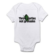 Throw Parties Not Grenades Infant Bodysuit