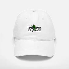 Throw Parties Not Grenades Baseball Baseball Cap