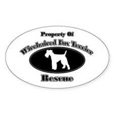 Property of Wirehaired Fox Te Oval Decal
