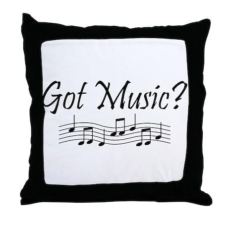 Got Music? Throw Pillow